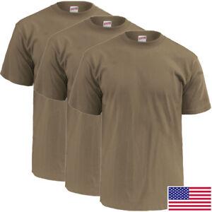 New Tan 499 OCP T-Shirt, 50/50 Cotton Poly 3-Pack