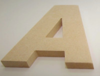 100mm MDF Letters Numbers Wooden Decoration Words 12mm Thick MDF Arial Alphabet