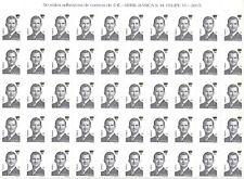 ESPAÑA.AÑO 2018.REY FELIPE VI.Pliego de 50 sellos de 5 €uros.
