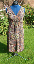 Linea (house of Fraser) size 12 fully lined jersey, faux wrap, flattering dress