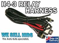 H4 H/L Wiring Harness  XENON HID KIT Bi-Xenon Loom Car Relay High Low UK