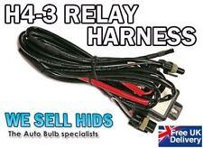 H4 H/L Wiring Harness  XENON HID KIT Bi-Xenon Loom Car Relay High Low UK