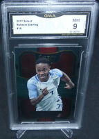 2017-18 Panini Select Soccer Raheem Sterling Card #10 Graded GMA Mint 9
