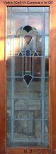 Vetrata artistica al piombo Art Deco - Vetro 32x111 cornice 41x120