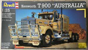 Revell #7549, Kenworth T900 Australia, bereits angefangen, 1993, original Karton