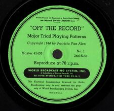 "Off the Record. A Short Cut to Playing Swing. 8 12"" 78s WBC 45429, etc.E-/E"