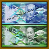 Barbados 2 5 Dollars ( 2 Pcs Set), 2013 P-73 74 Unc