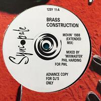"""Brass Construction –  Movin' 1988  UK Vinyl 12""""  Promo  12SY11   MINT  UNPLAYED"""