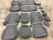 FACTORY OEM CLOTH SEAT COVERS MEDIUM GREY 2015 2016 2017 FORD F150 SUPER CAB