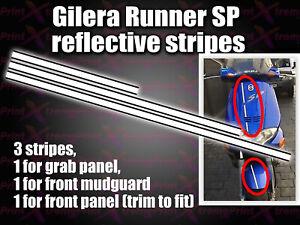 Gilera Runner SP Reflective Stripes Sticker Decal 50 125 172 180 183 mudguard