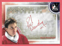 2015-16 Rick Wamsley ITG Final Vault 2012-13 Forever Rivals Auto - Canadiens