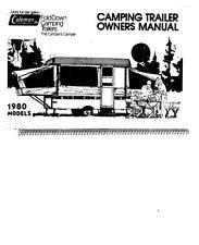 COLEMAN Popup Trailer Owners Manual-1980 Ligonier Rebel Gettysburg Valley Forge