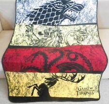 Rare New Game of Thrones House Rows Plush Fleece Gift Throw Blanket Book Series