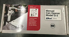 New Edlund G-2 Manual Can Opener with Standard Bar and Plated Base Made in Usa