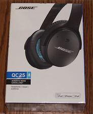BRAND NEW ~Bose QuietComfort 25 Headband Headphones - Black~IPOD/IPHONE/IPAD