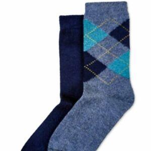 HUE 2-pack Argyle ultra soft women's boot socks - Navy/Denim heather- One size