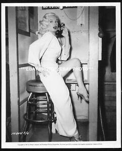 MAMIE VAN DOREN on set TEACHER'S PET Using telephone 1957 ORIGINAL CANDID PHOTO