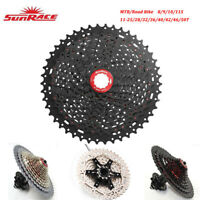 Sunrace MTB Road Bike 8/9/10/11 Speed Bicycle Cassette Shimano SRAM compatible