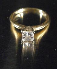 Stunning 14k Yellow Gold - Princess Cut 1k CZ Ring Engagement - size 8 to 8.5