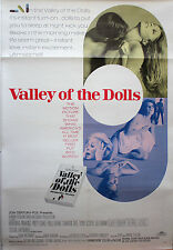 """VALLEY OF THE DOLLS ""  ORIGINAL LINEN BACKED MOVIE  POSTER"