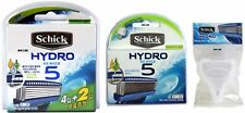 Schick Hydro 5 Razor Blade 10 Cartridges Refill + Travel Cover BRAND NEW SEALED