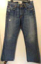 BKE Tyler Buckle Mens Size 31×32 Distressed Denim Boot Cut Jeans Medium Wash