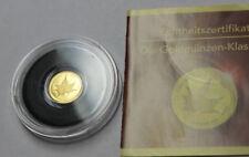 """""""Die kleinsten Goldmünzen"""" - Cook Islands - 1 Dollar 2007 - Maple Leaf"""