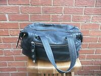 M&S Black Leather Grab Bag Tote Hand Held Over Arm Handbag
