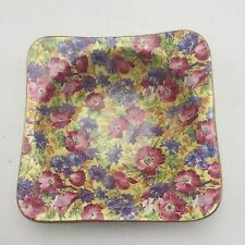 "Royal Winton Royalty Chintz 5"" Bowl Square Early Piece England"