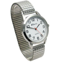 Ravel Men's Super-Clear Quartz Watch with Expanding Bracelet sil #39 R0232.11.1