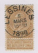 "BELGIQUE / BELGIUM 1898 OBL RONDE ""LESSINES"" / 50c BISTRE ""FINE BARBE"" COB62 TB"