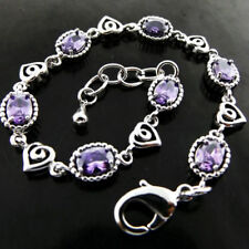 Bracelet Amethyst Sterling Silver Vintage & Antique Jewellery