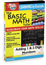 BASIC MATH TUTOR - ADDING 1 AND 2 DIGIT NUMBERS - DVD - REGION 2 UK
