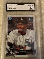 2018 Bowman Chrome White Sox Luis Robert Rookie GMA 10 Gem Mint (#BCP21)