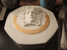 VERSACE GORGONA TRINKET JEWELRY BOX CANDY MEDUSA GOLD ROSENTHAL RETAIL $650