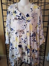NWT APT Designs Women's Floral Print V-Neck Tunic, Size S/M