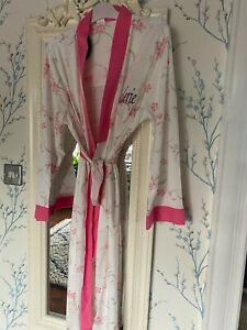 Lady olga cotton ANY NAME EMBROIDERED dressing gown robe in purple pink or blue