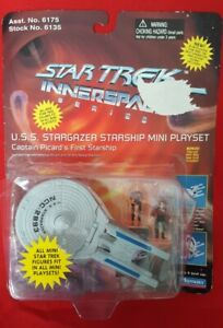 1995 Star Trek Innerspace-USS STARGAZER STARSHIP Mini Playset Playmates-vintage