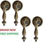 4 Pack Antique Style Metal Drawer Tear Drop Cabinet Decorative Pull Bronze