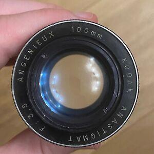 Lentille Lens Objectif ❤️ Projecteur diapos - ANGENIEUX 100mm - F 3,5 - Kodak