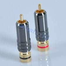 8pcs Carbon Fiber Gold Phosphor Bronze speaker Banana connector plug