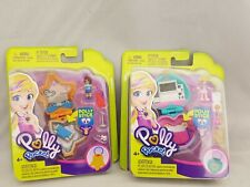 Polly Pocket  Micro Playset Compacts bundle of 2 new