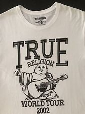 TRUE RELIGION NWT Men's T-Shirt Buddha Tour Crew Neck Size XL New $69.00