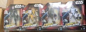 Star Wars Hero Mashers Action Figures X 4  BRAND NEW  U.K.