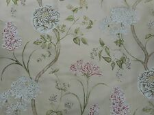 Sanderson Curtain Fabric 'Summer Tree' Cream/Rose 4 METRES (400cm)  100% Silk