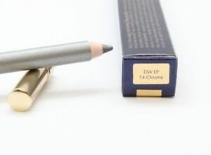 2X LOT Estee Lauder Double Wear Stay-In-Place Eye Pencil With Smudger #14 Chrome
