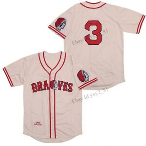 Throwback 1935 Babe Ruth #3 Baseball Jersey Stitched Men's Shirts Beige S-3XL