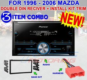 96-06 MAZDA DOUBLE DIN AM/FM BLUETOOTH USB IPOD IPHONE AUX CAR STEREO RADIO
