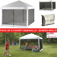 Pack Of 4 Canopy Sidewalls For 10' x 10' Canopy Tent Gazebo House Screen Walls