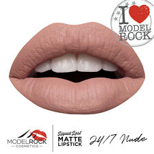 MODELROCK Liquid to Matte Lipstick NUDE 24/7 model rock last vegan